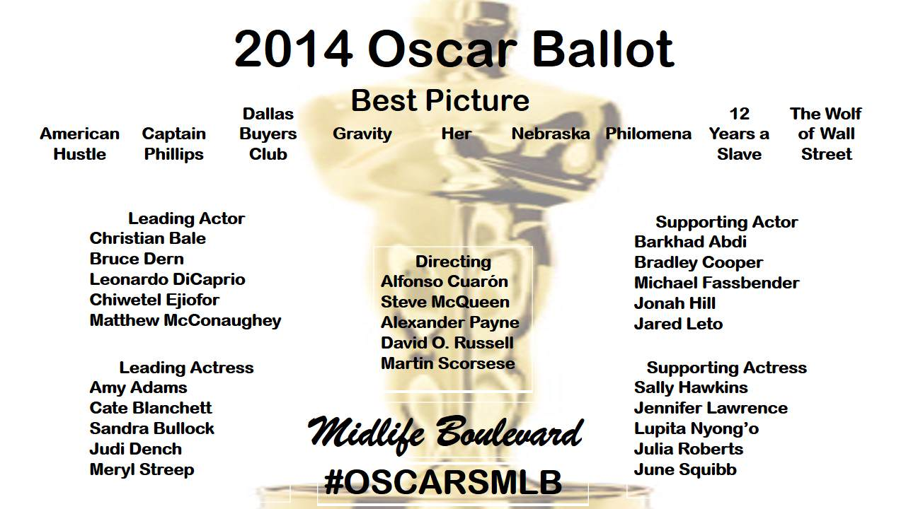 Oscars 2014 Print Out The Daily News Ballot To Predict | Party ...