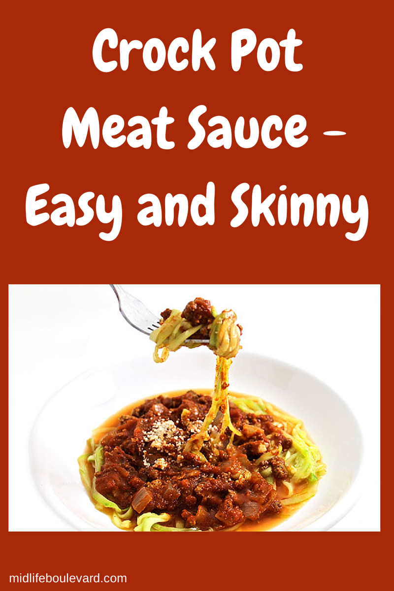 Crock Pot Meat Sauce - Easy and Skinny - Midlife Boulevard