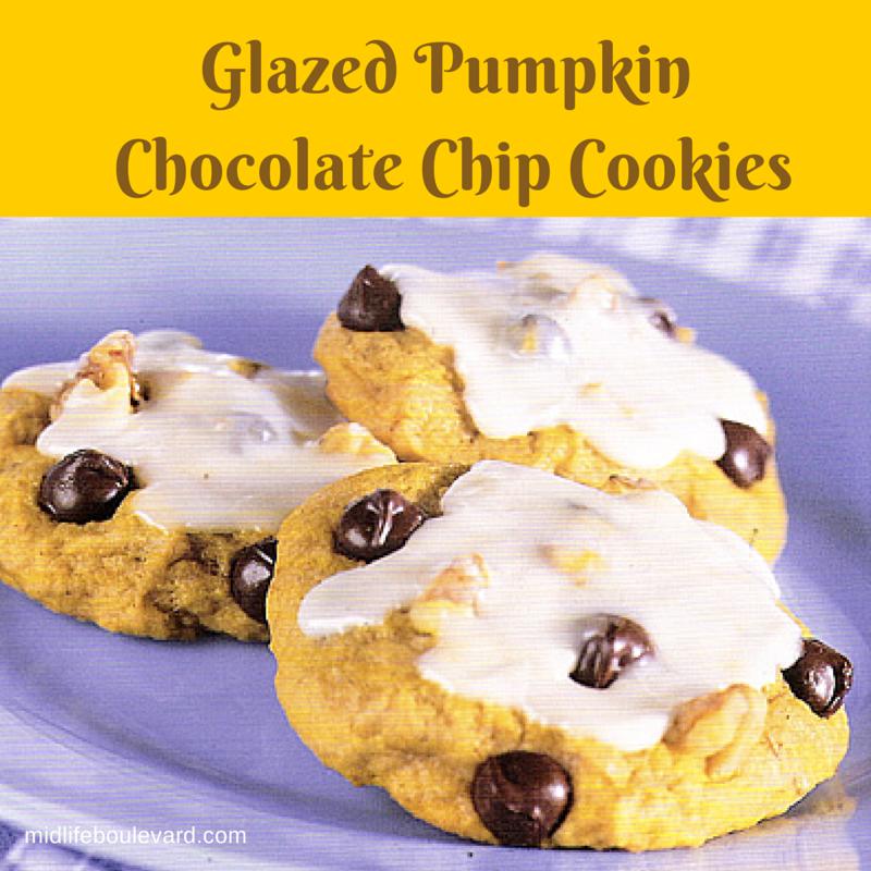 Chocolate-Glazed Pumpkin Cookies Recipe — Dishmaps