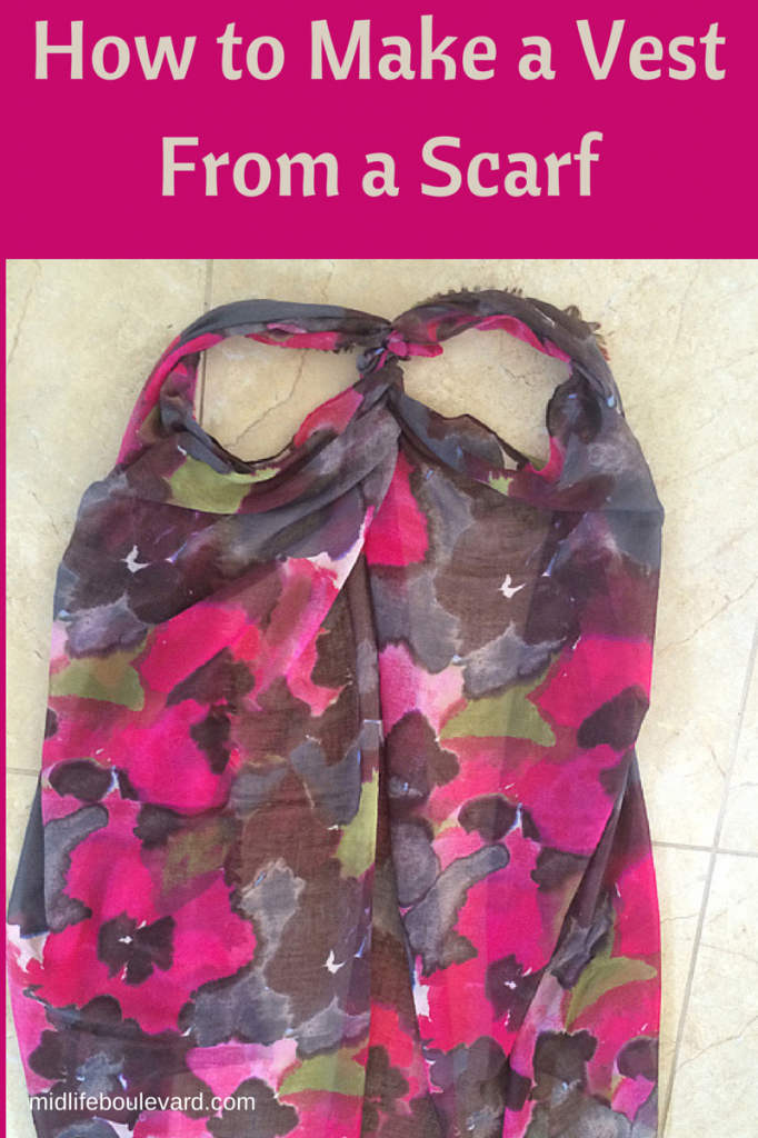 how to make a vest from a scarf midlife boulevard
