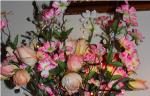 lighted floral centerpiece