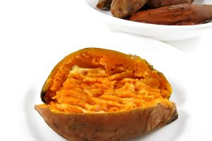 Super Easy Baked Sweet Potatoes