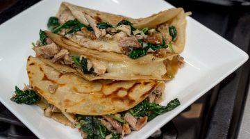 Smoky Chicken and Spinach Quesadilla Recipe