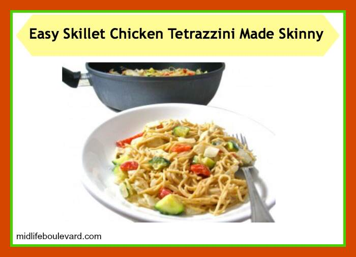 chicken tetrazzini, skinny chicken tetrazzini, weight watchers, weight watchers points, healthy eating, easy recipe, skinny kitchen, chicken, midlife, midlife women, featured