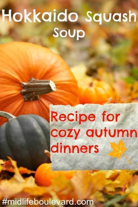 Hokkaido squash soup recipe for fall