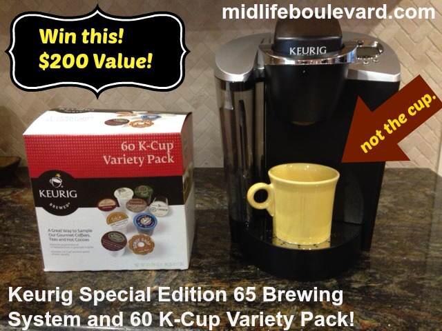 keurig, keurig brewing system, kcups, midlife, middle-age, giveaway, midlife boulevard, win