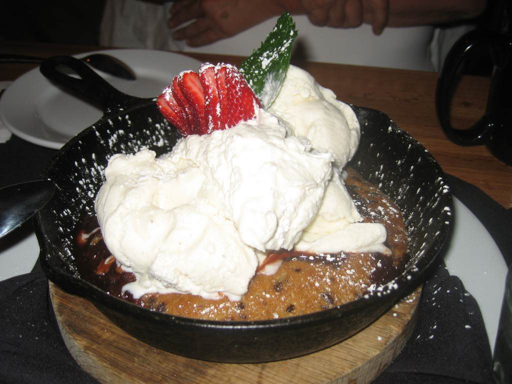 dessert, dining out, ice cream, avon walk, breast cancer, family, son, midlife woman, midlife