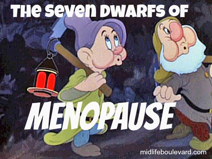 menopause, menopause symptoms, perimenopause, insomnia, mood swings, midlife women, midlife, seven dwarfs, snow white, featured