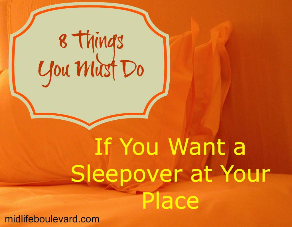 sleepover, hot shower, coffee, cats, pillows, friends, houseguests, midlife women, featured