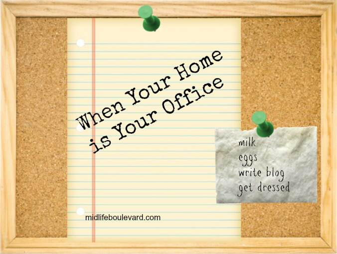 work-at-home, home office, working from home, writing, blogging, ups man, office romance, gossip, midlife, midlife women, featured