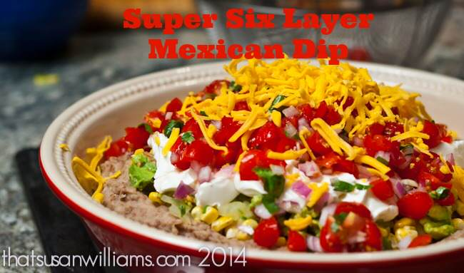six layer mexican dip, superbowl food, mexican food, dip recipe, six layer dip recipe, featured