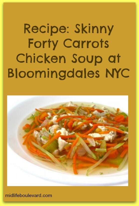 chicken soup, carrots, healthy soup, weight watchers points, weight watchers, bloomingdales