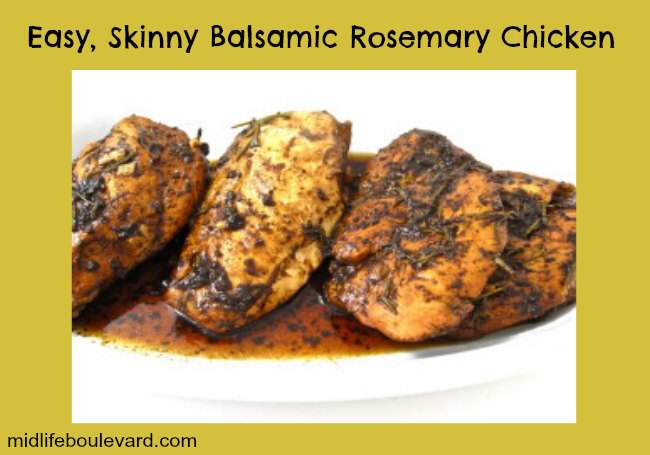 balsamic rosemary chicken recipe, weight watchers, weight watchers points, healthy eating, midlife, midlife women, featured