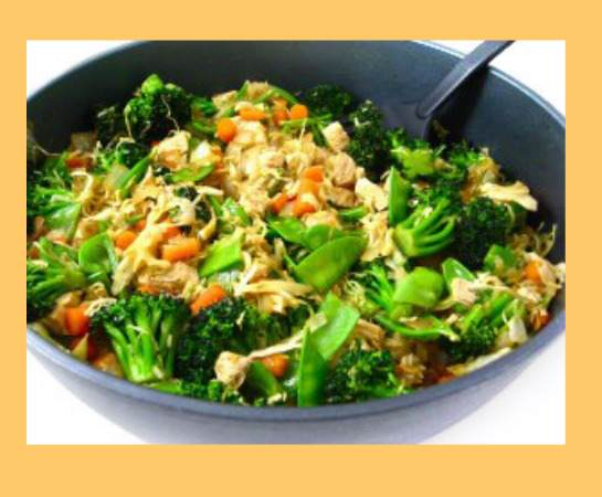 chicken vegetable stir-fry, healthy eating, weight watchers, weight watchers points, weight watchers recipe, skinny kitchen, featured