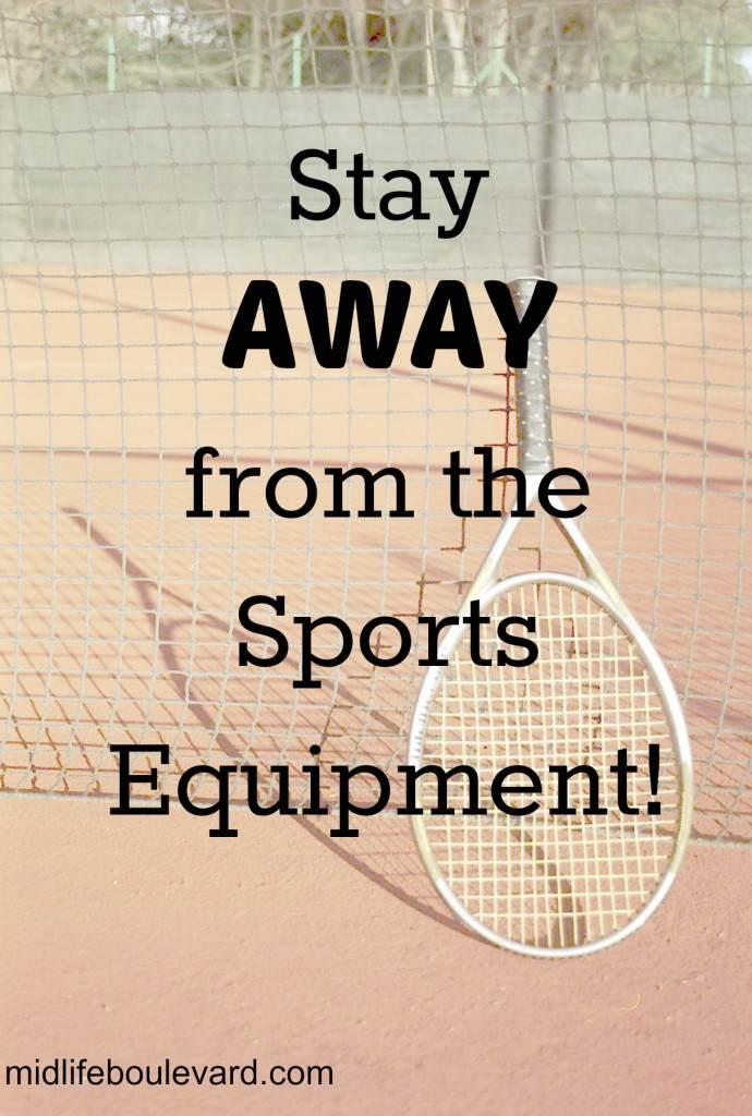 sports, kids sports, klutz, tennis, high school gym class, watching kids sports, midlife, midlife women