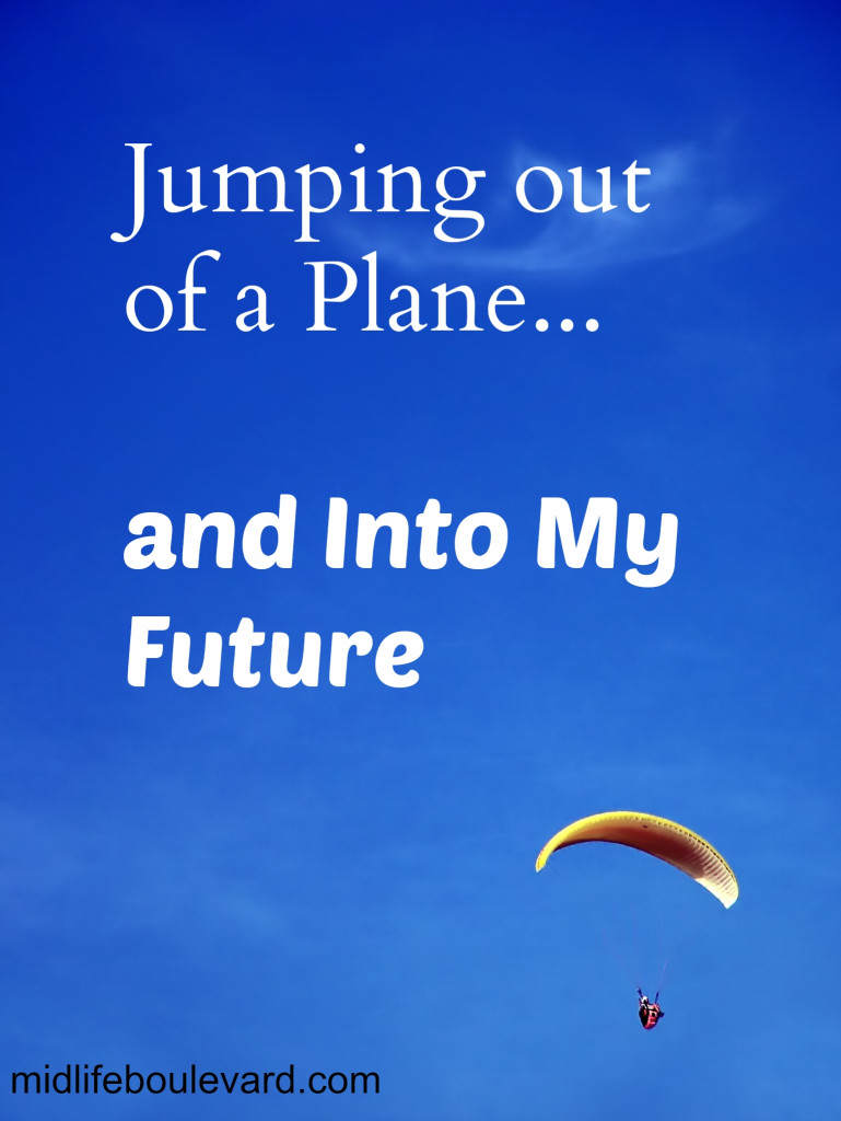 midlife crisis, divorce, empty nest, life changes, skydiving, taking a risk, midlife women,