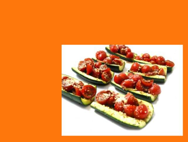 Zucchini Bruschetta – a Low Carb and Gluten Free Treat