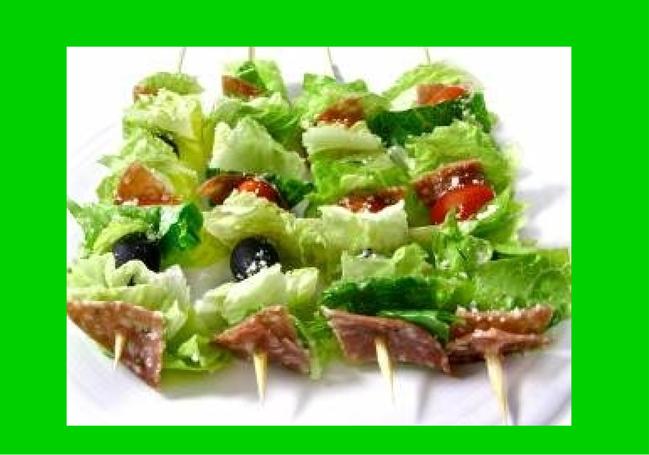 Salad on a Stick, Italian and Skinny