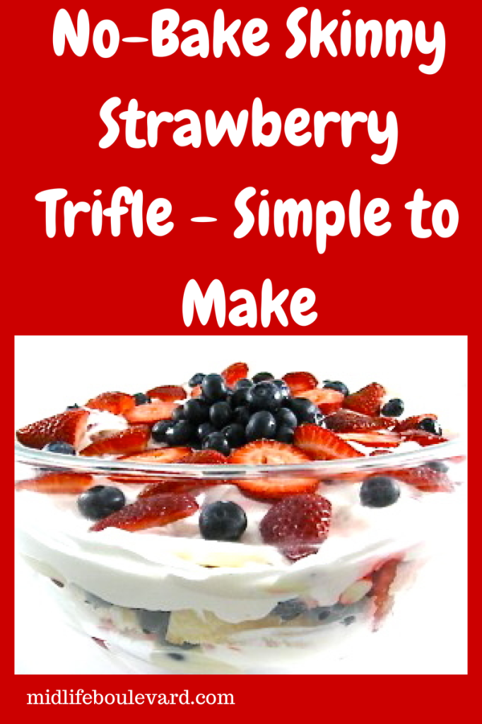 This no-bake strawberry trifle recipe is perfect for the Fourth of July. And it's only 3 Weight Watchers Points Plus.