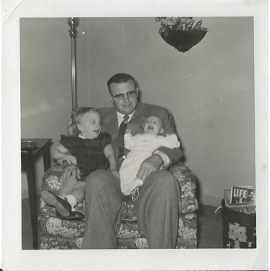 dad and young daughters, daddy, dad holding baby daughter
