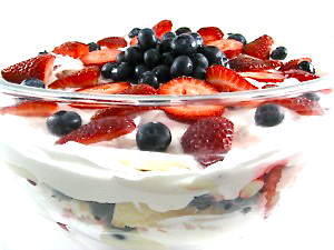 No-Bake, Patriotic Skinny Strawberry Trifle -Perfect for 4th of July!