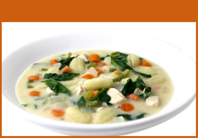Skinny Potato Gnocchi Soup with Chicken