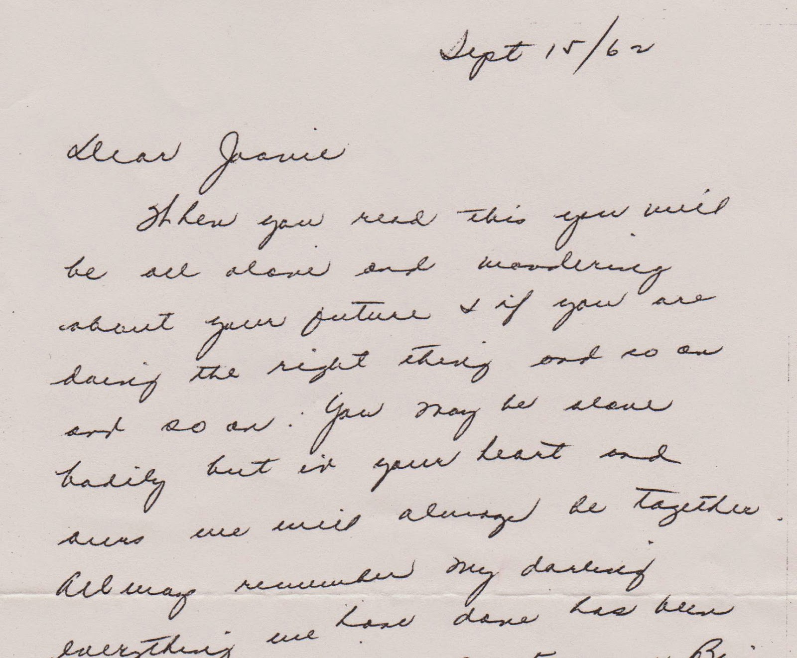 Advice for a College Bound Daughter...From 50 Years Ago ...
