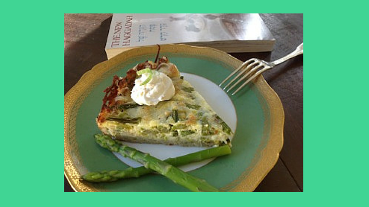 Yummy for Passover: Asparagus and Leek Pie with Potato Crust