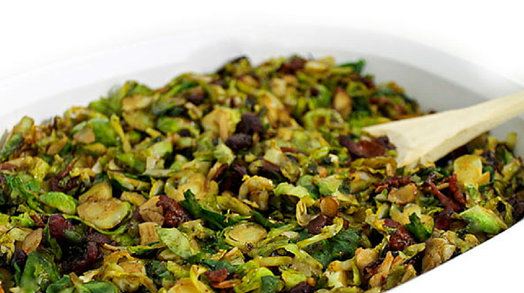 Skinny Warm Bacon-Balsamic Brussel Sprouts