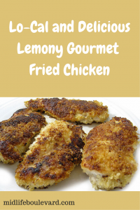 Lo-Cal and Delicious Lemony Gourmet Fried Chicken