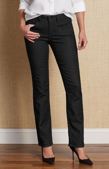 These NYDJ dark wash jeans are a great staple piece, and keep you long and lean.