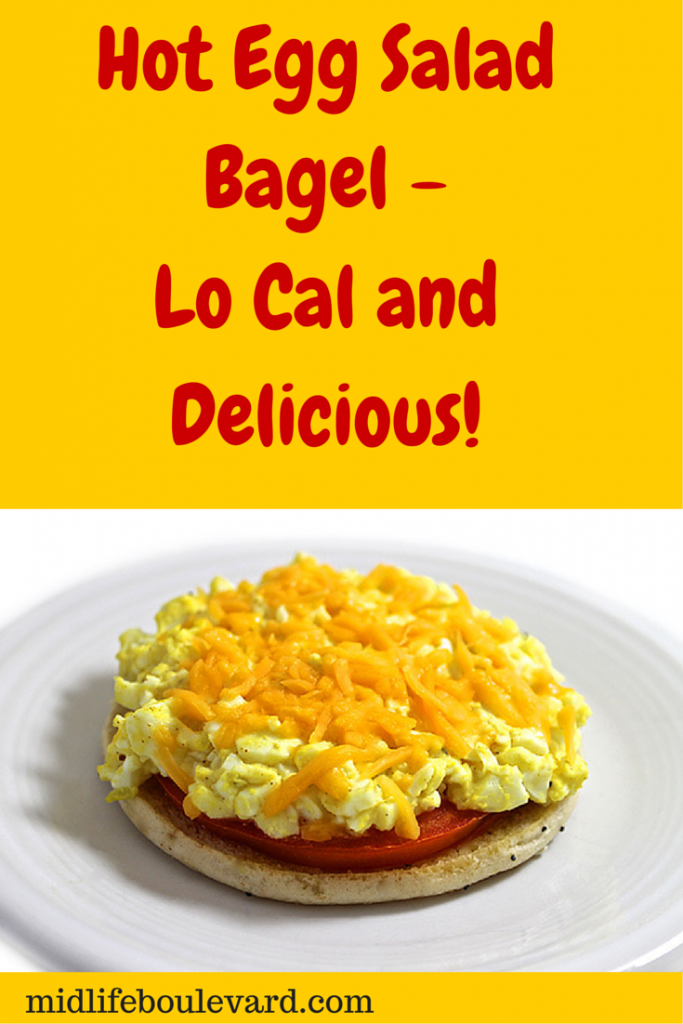 Hot Egg Salad Bagel - Lo Cal and Delicious!