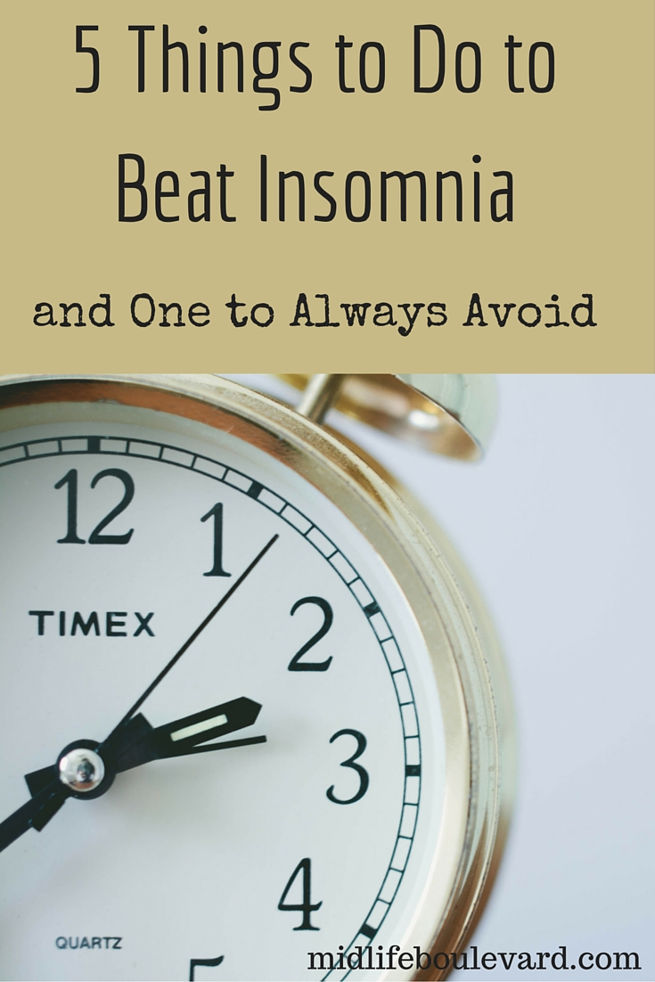 5 Things to Do to Beat Insomnia