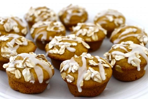 Yellow Cake Mix Pumpkin Mini Muffins