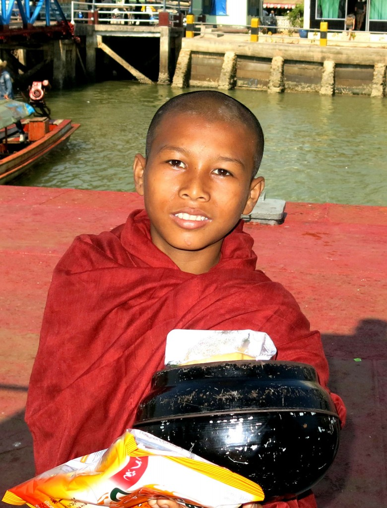 Young monk in Burma