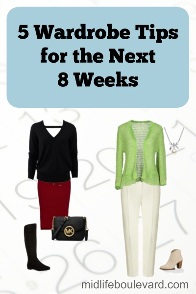 5 Wardrobe Tips for the next 8 Weeks V
