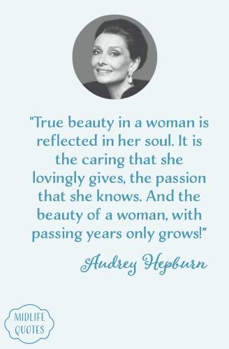 Audrey Hepburn aging quotes