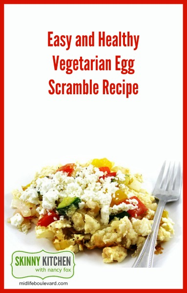 As we move forward into 2016 everyone's looking for those healthier recipes that are still delicious and satisfying. I've got the perfect vegetarian egg scramble that's so simple to make...