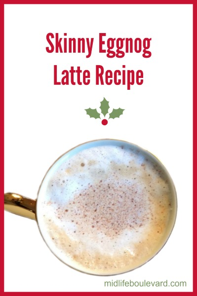 Skip the coffee shop with this Starbucks copycat recipe for Skinny Eggnog Latte Recipe. Christmas coffee