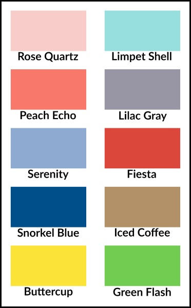 Pantone Colors for Spring 2016