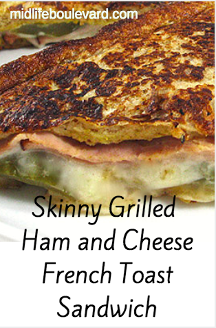 Skinny grilled ham and cheese sandwich from @SkinnyKitchen. Perfect for a quick dinner. Weight Watchers points calculated.