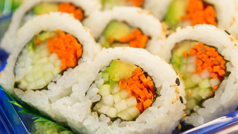 Homemade Vegetable Sushi Rolls