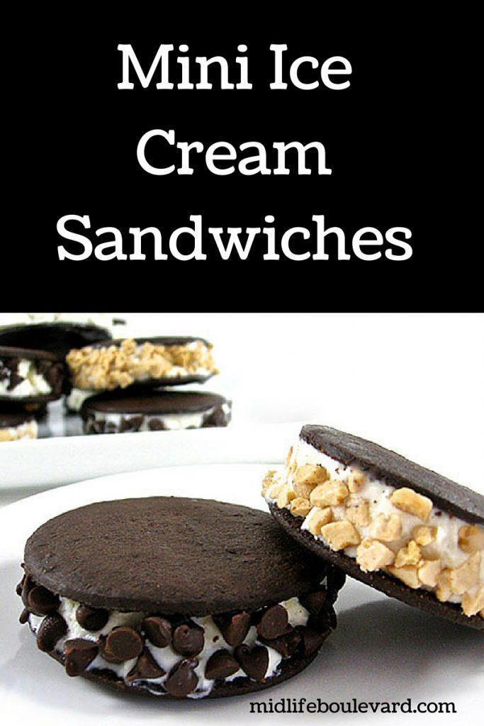 delicious and skinny homemade mini ice cream sandwiches