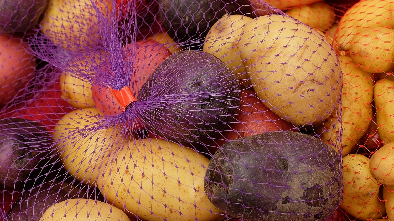 colorful potatoes for skinny ranch potato salad recipe