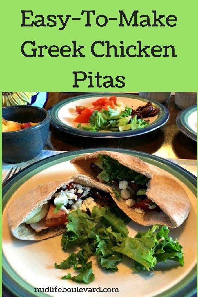 Greek chicken pita recipe