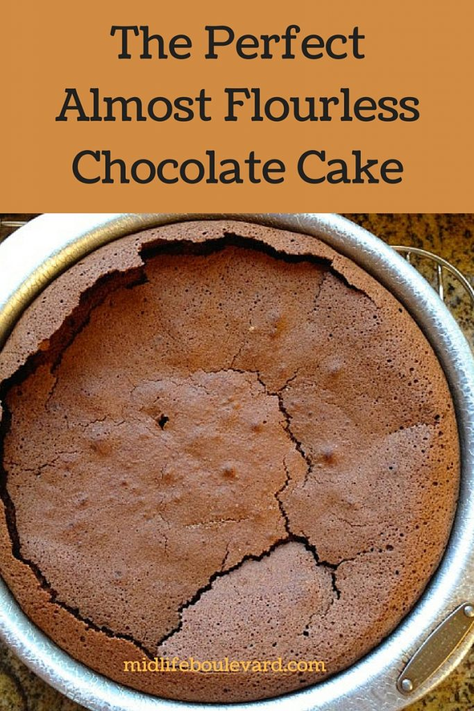 recipe for chocolate cake that's mostly flour-free