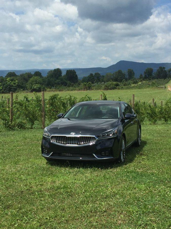 The new 2017 Kia Cadenza in wine country in Virginia. #DiscoverCadenza