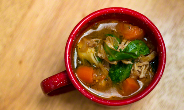 Slow Cooker Chicken Garlic Soup