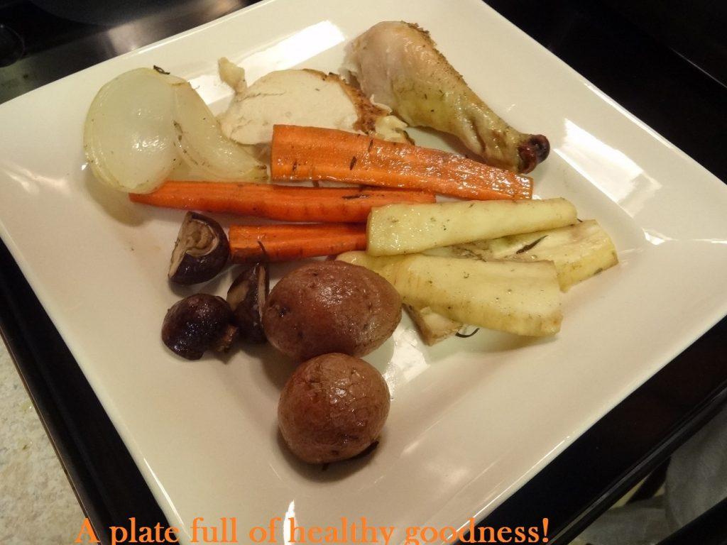 Delicious Sunday Roast Chicken with Veggies!