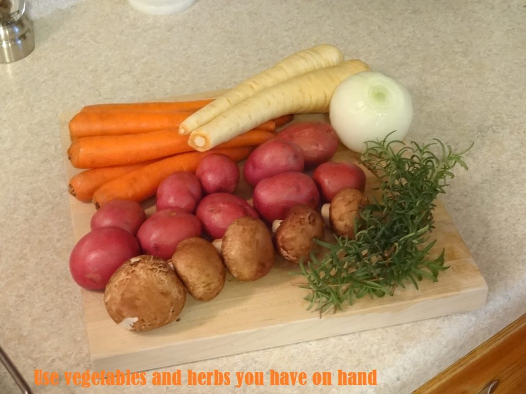 Veggies for the Sunday Roast Chicken!